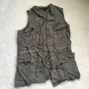 Mossimo Olive Military Vest